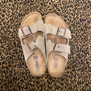 Birkenstock Arizona suede leather sandal